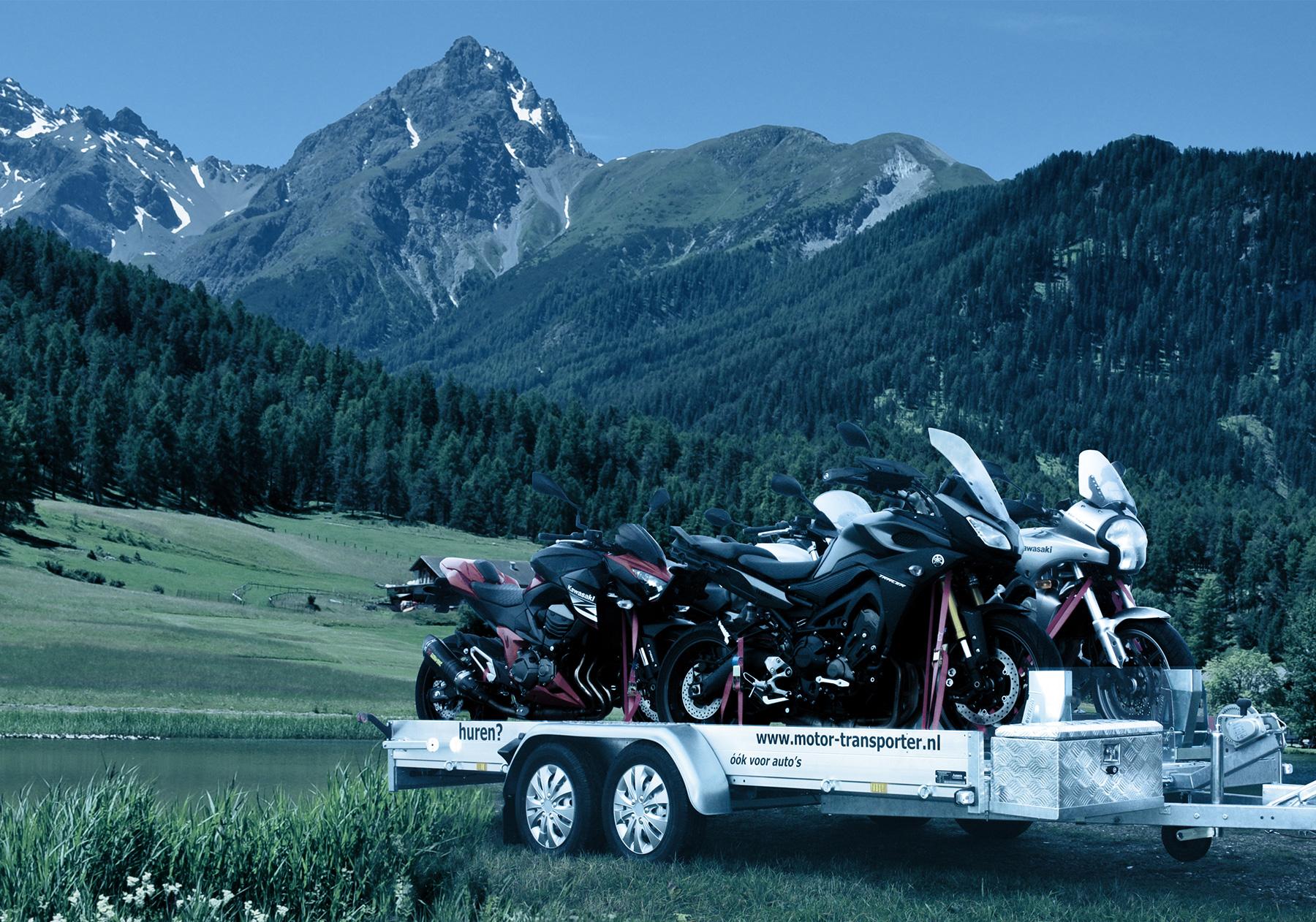Motor-transporter motortrailer motoraanhanger