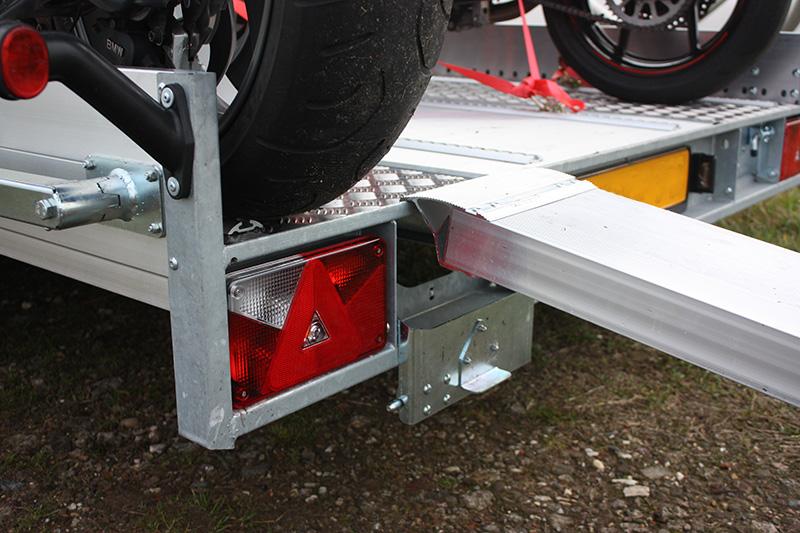 oprijplank motor aanhanger